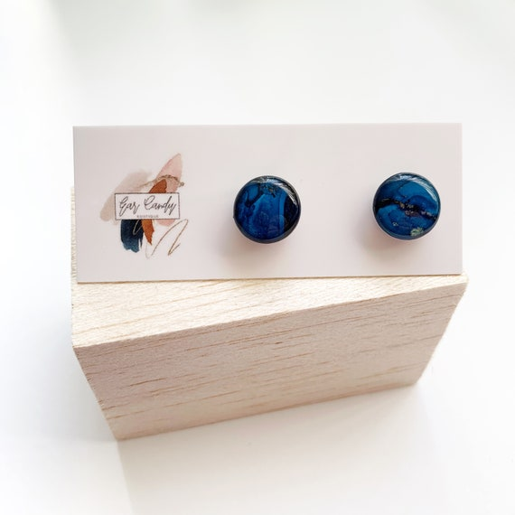 Painted Ink 1.2cm Studs