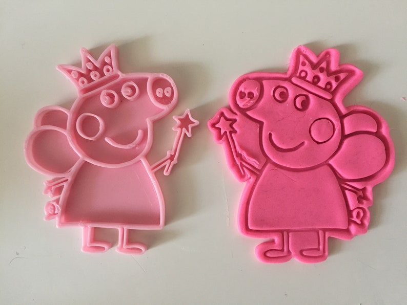 Peppa Pig Fairy Cookie Cutter With Stamp Fondant Cutter Baking Supplies Birthday Party For Kids Gift Idea Cookie Decoration