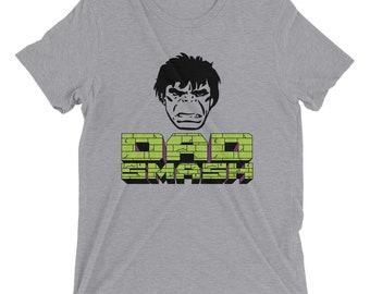 722cd5d3 Dad SMASH! T-Shirt Mens Tee Fathers Day Dad Incredible Hulk Smash Marvel  Retro Comics