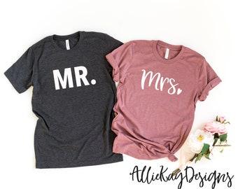 ff4c3b07 Mr. Mrs. Shirts | Couples Shirts | Women's T- Shirt | Wifey T- Shirt |  Wedding Gift | Anniversary Gift | Personalized Gift