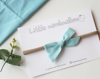 Blue Classic Bow Baby Headband / Toddler Headband / Headband for Babies