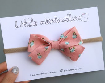 Floral Peach Pink Baby Headband / Toddler Headband / Headband for Babies