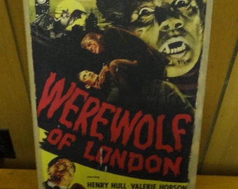 Werewolf of London screen printed PATCH Henry Hull