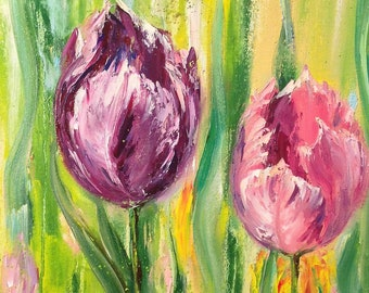 Tulips - Original Oil Paintings