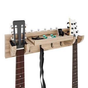 TWO SIDED Lichtenberg Figures Lightning Fractal Burned Cherry Wall Mount Guitar Banjo Hanger Holder Stand Board Natural Hook Art Decor Bass