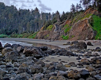 Landscape Photography Wall Canvas-Beautiful Oregon Coast - Free Shipping