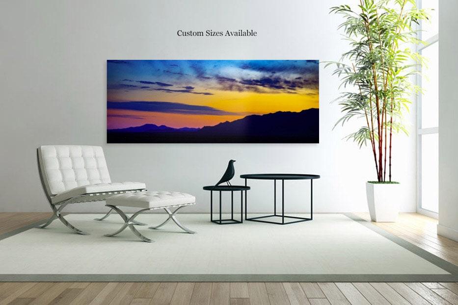 Landscape Photography Acrylic Prints Canvas Wall Decor Art Home Phoenix Arizona Amazing Sunset