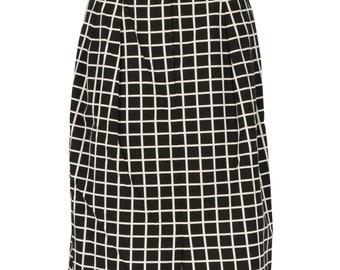 05ee194b83 Dries Van Noten 90s check skirt