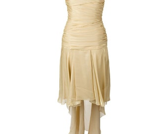 784a13fa86a2 Jean Louis Scherrer 90s gold dress