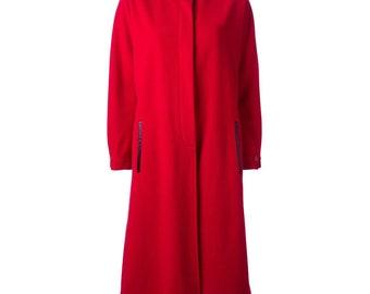 bf567019b8 Gianfranco Ferré 80s long red coat