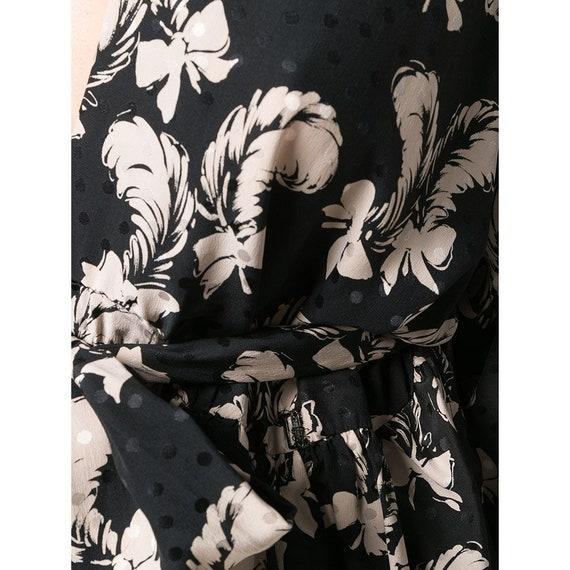 Yves Saint Laurent 70s feathers print skirt suit - image 4