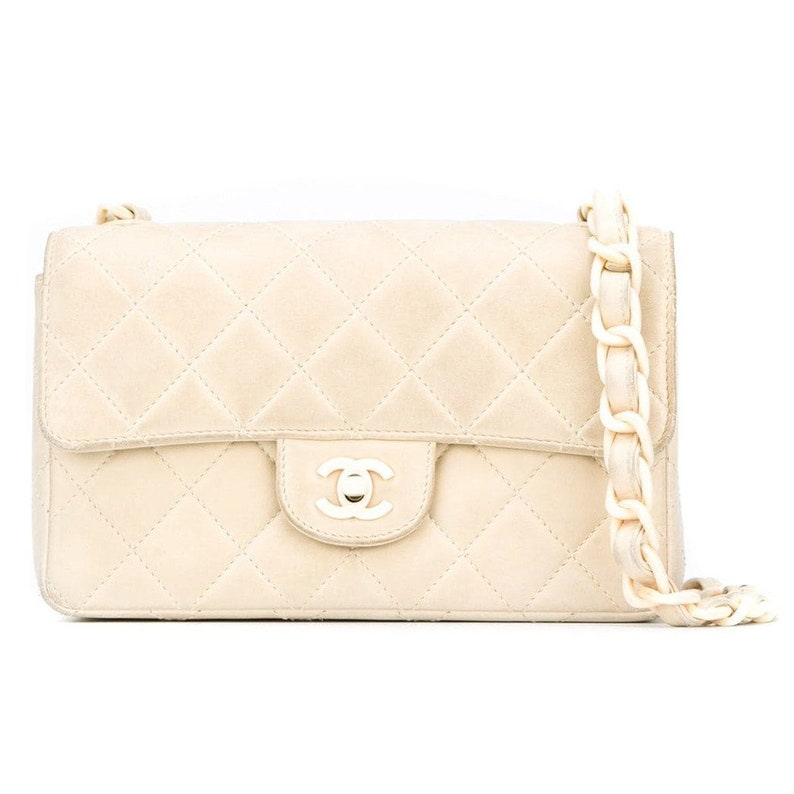 4cbc1738493a Chanel beige leather 90s bag   Etsy