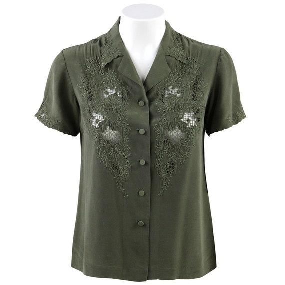 Green Silk Shirt - image 1