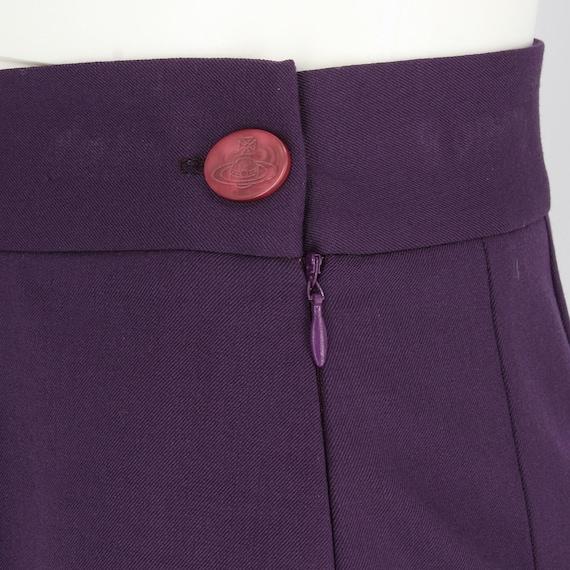 Vivienne Westwood 90s purple miniskirt - image 4
