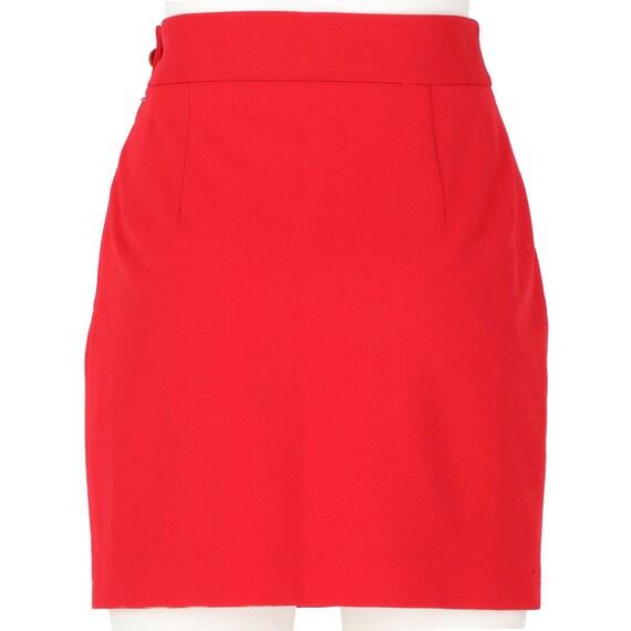 Vivienne Westwood 90s red mini skirt - image 3
