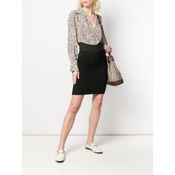 90s Alaïa black straight skirt