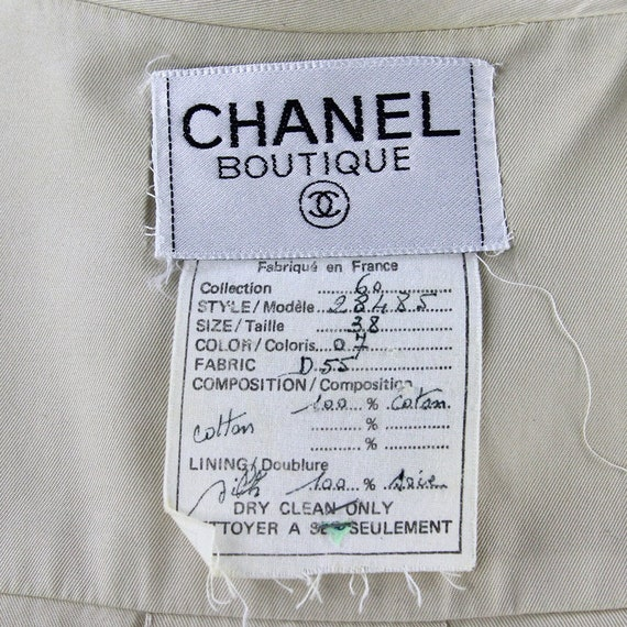 90s beige Chanel jacket - image 5