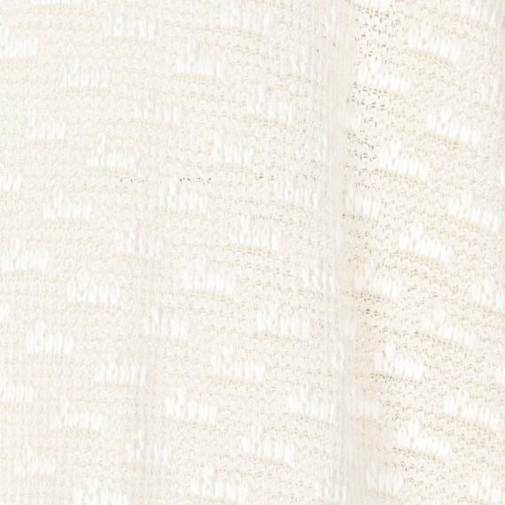 Krizia 80s white cotton cardigan - image 3