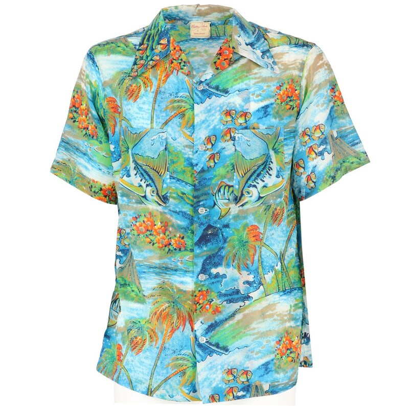 Camicia Camicia Uomo Hawaiana Hawaiana Anni 80 Uomo Anni 80 0Nyvmwn8O