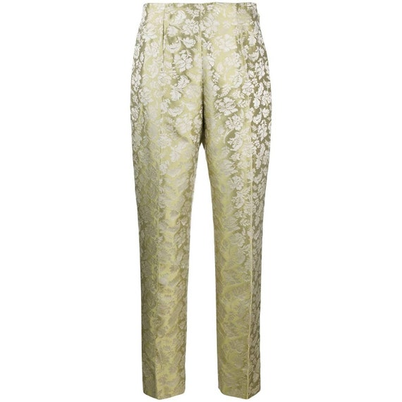 90s Romeo Gigli jacquard trousers