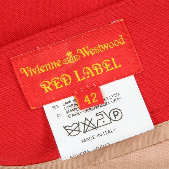 Vivienne Westwood 90s red mini skirt - image 5