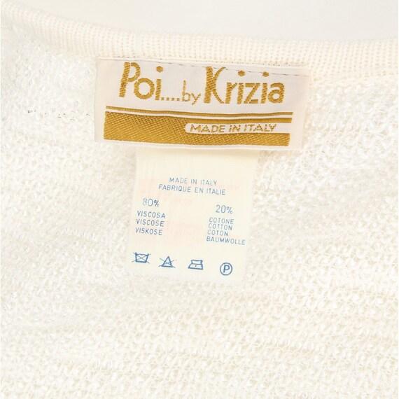 Krizia 80s white cotton cardigan - image 5