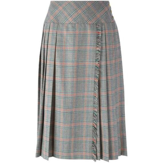 Céline 70s Prince of Wales skirt