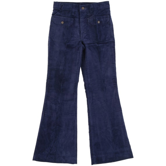 Levi's 70s blue flared trousers
