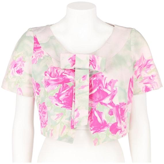 Floral pink 50s jacket