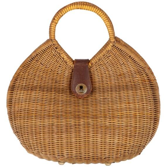 Vintage 50s wicker bag