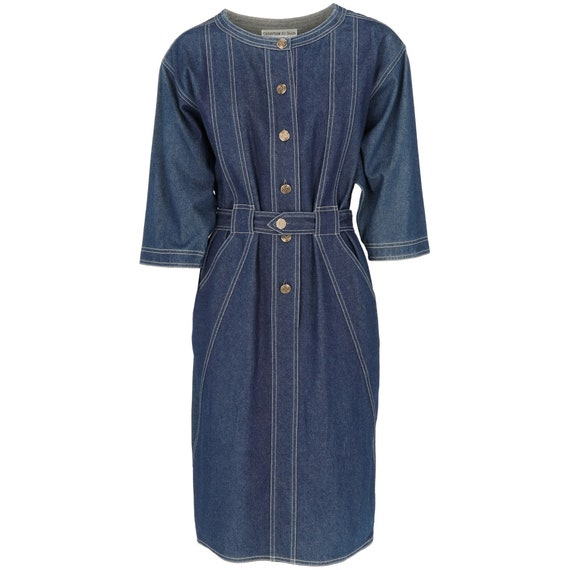 Christian Aujard 80s denim dress