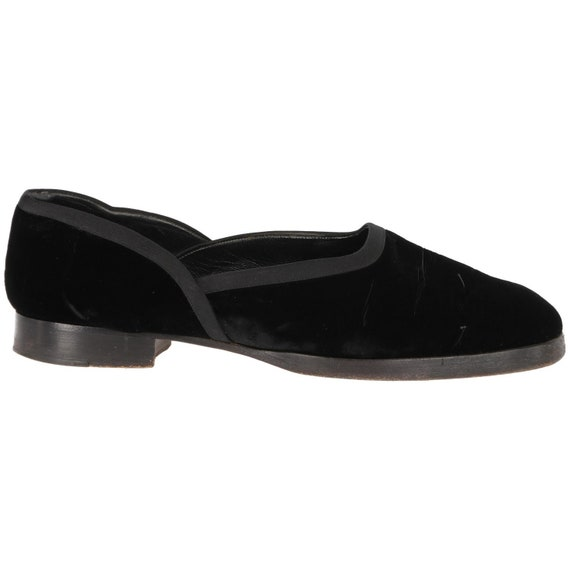 Ralph Lauren velvet 90s flat shoes