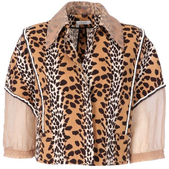 Pollini 90s leopard jacket