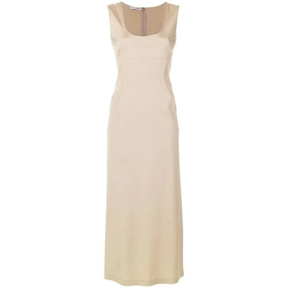 Dolce & Gabbana 2000s beige long dress