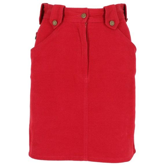 Moschino 90s burgundy skirt