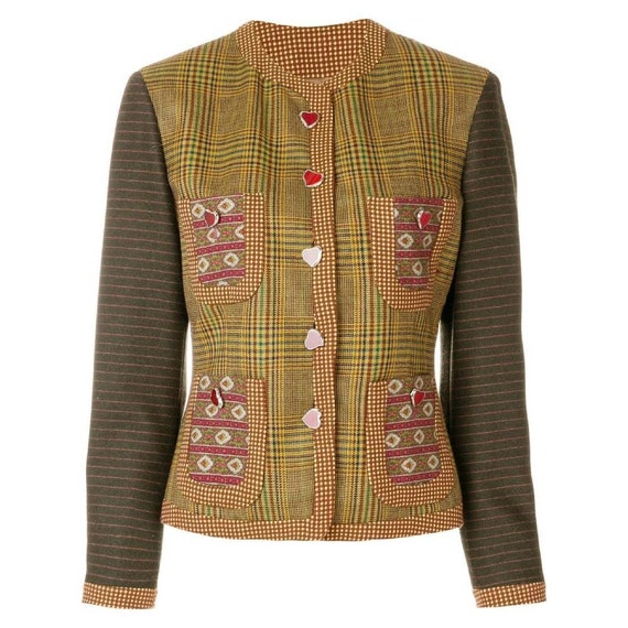 90s Moschino Couture tartan jacket