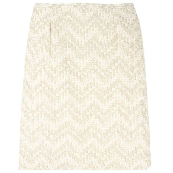 Scherrer 90s chevron striped skirt