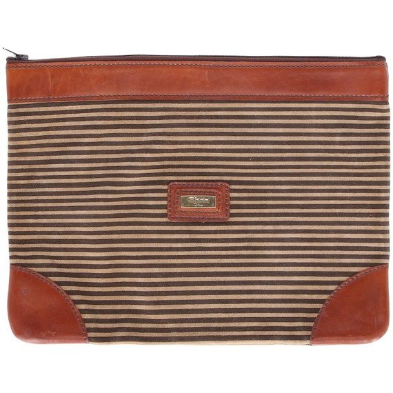 Fortuna 70s stripes clutch