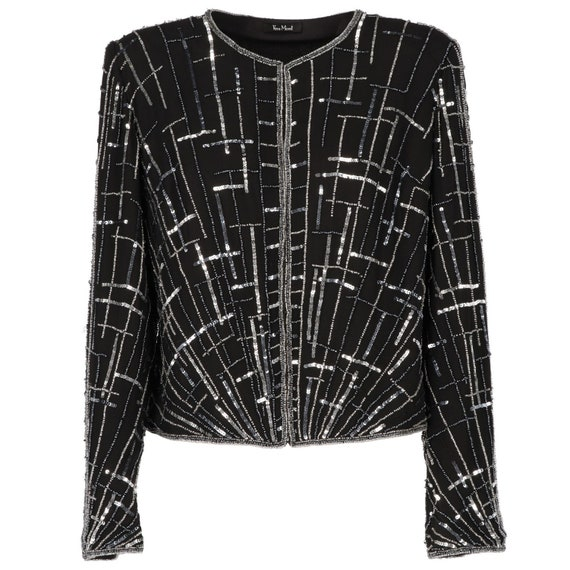 Vera Mont 80s silk and sequins jacket