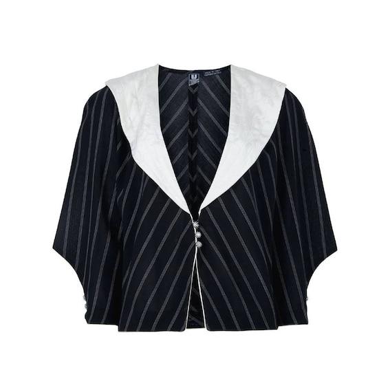 Emanuel Ungaro 80s pinstripe blazer