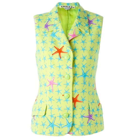 Versace 90s lime green vest