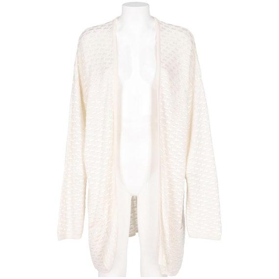 Krizia 80s white cotton cardigan