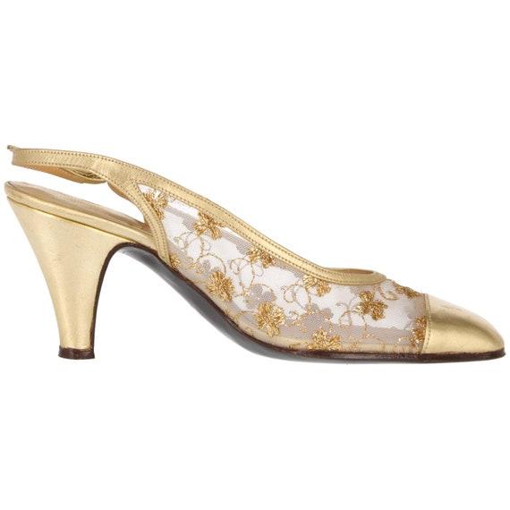 70s Dal Cò gold shoes