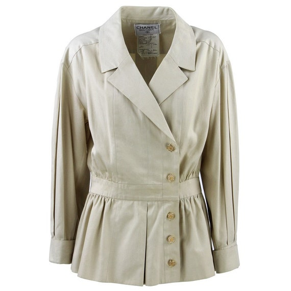90s beige Chanel jacket