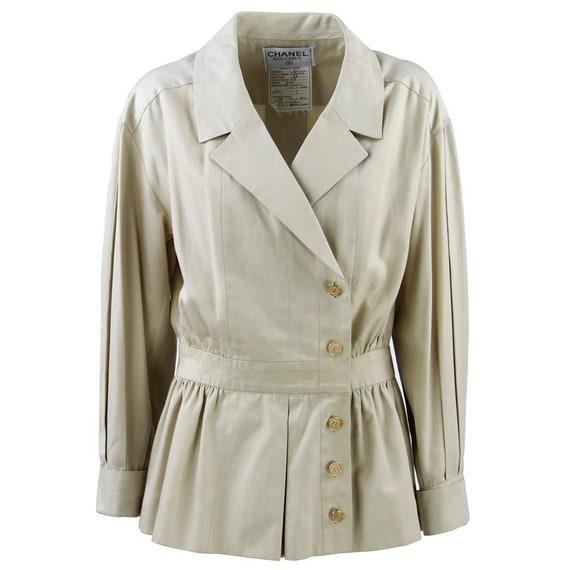 90s beige Chanel jacket - image 1