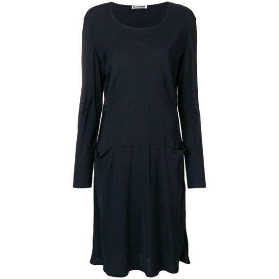Jil Sander 90s black viscose dress