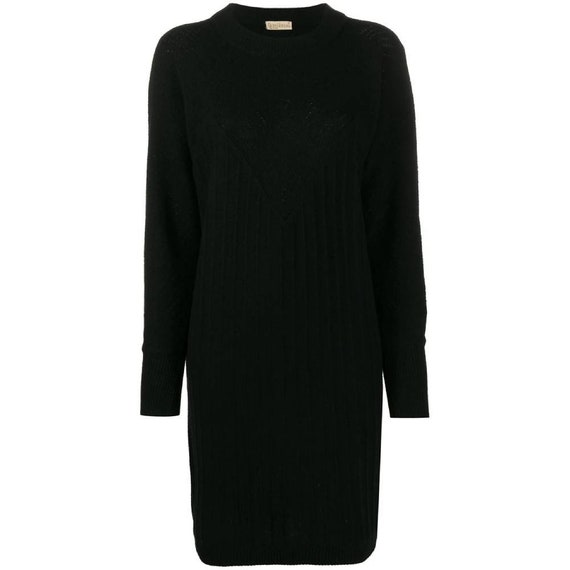 80s Gianni Versace black knitted dress