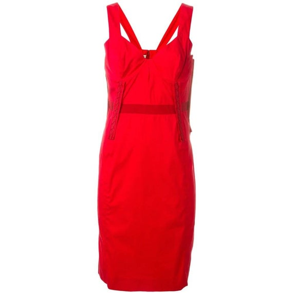 90s Prada red dress
