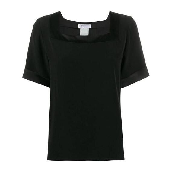 Yves Saint Laurent 90s black blouse