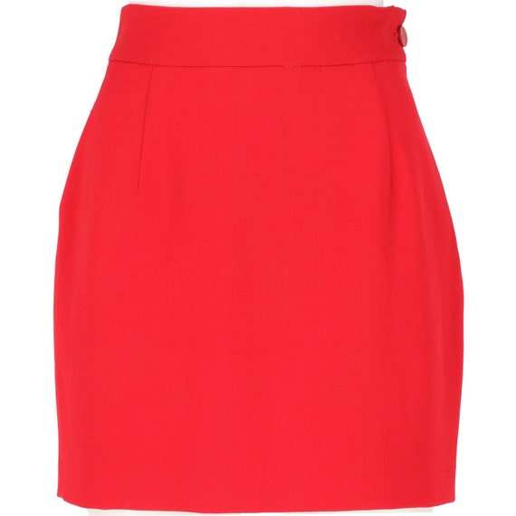 Vivienne Westwood 90s red mini skirt - image 1